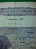 bancnote romanesti 100lei 1913 frumoasa