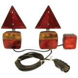Kit magnetic remorca auto Carpoint cu lampi , cablu de 4,5m, fisa remorca , triunghi reflectorizante si lampa ceata Kft Auto