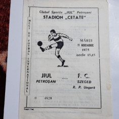 program       Jiul  Petrosani   -   FC  Szeged