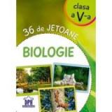 36 de jetoane. Biologie, clasa a V-a, Clasa 5, Auxiliare scolare