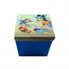 2 in 1 Cutie pentru depozitarea jucariilor si taburet Mickey Mouse Disney 402270CO , Multicolor