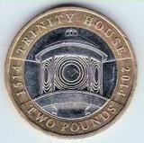 Moneda jubiliara Anglia - 2 lire 2014 - Trinity House - UNC, Europa, Cupru-Nichel