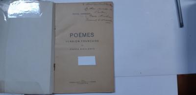 Eminescu, POEMES, Editie de Pierre Nicolesco, Bucuresti, 1931 foto