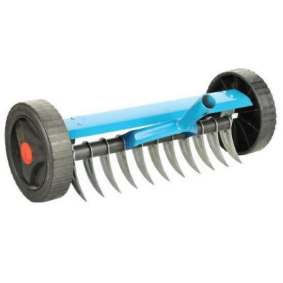 Scarificator manual cu roti, 11 dinti, Strend Pro R152W, fara coada Mania Tools foto