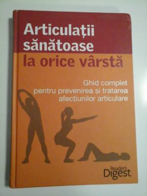 ARTICULATII SANATOASE LA ORICE VARSTA - READER'S DIGEST foto