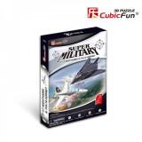 Puzzle 3D CubicFun CBF2 F117 Nighthawk & Sukhoi F/A-18 Hornet