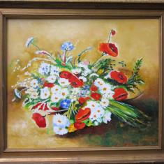 Tablou flori semnat Cimpoesu
