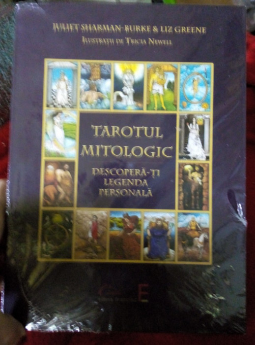 Set TAROTUL MITOLOGIC,78carti tarot+carte mare cartonata,ed lux-ED LIM-lb Romana
