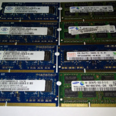 Memorie Ram 2 Gb DDR3 Laptop / 1333 Mhz PC3-10600S / Testate