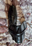 Cizme piele,maro,purtate o singura si cizme culoare neagra, Geox purtate odata, 37, Negru