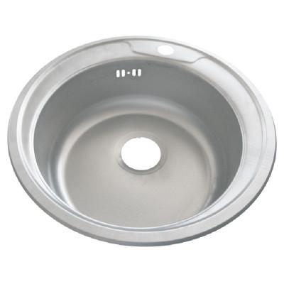 Chiuveta rotunda inox Zilan, 48 cm, design simplu foto