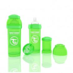 Biberon Anti colici 260 ml Twistshake Verde