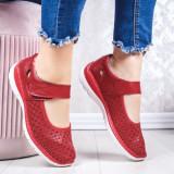 Pantofi dama casual Piele rosii Bifani -20 -rl