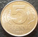 Moneda 5 PFENNIG - RD GERMANA, anul 1968 *cod 951