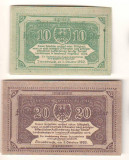 SV * Austria LOT 2 NOTGELD  10 + 20 HELLER 1920 * Innsbruck Landul Tirol     UNC