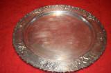 Tava argintata rotunda  pentru servit 41 cm