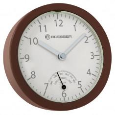Ceas de perete cu higrometru Bresser MyTime Mini, 3 x ventuze prindere