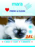 Cumpara ieftin Nisip litiera pisici, Maracat, Absorbant Silicat, 3.8 L