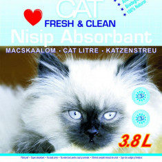 Nisip litiera pisici, Maracat, Absorbant Silicat, 3.8 L