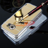 Toc jelly case mirror samsung galaxy s7 edge silver
