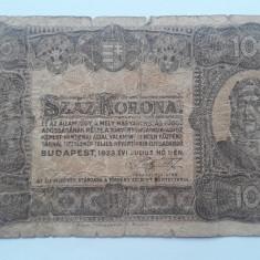 100 Korona 1923 Ungaria bancnota coroane