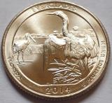 25 cents / quarter 2014 SUA, Florida, Everglades, litera D, America de Nord