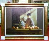 Tablou pictat manual pe panza in ulei, A-039, Natura, Realism