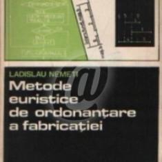 Metode euristice de ordonantare a fabricatiei