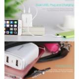 Incarcator retea Usams U2+ Dual USB Xiaomi Redmi Note 3 Alb