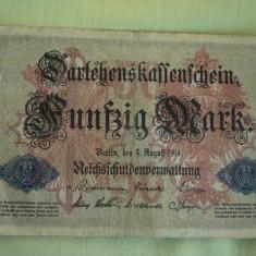 50 Mark / Marci 1914 GERMANIA - Lot de 2 Bucati