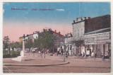 Bnk cp Ramnicu Sarat - Piata Independentei - uzata 1923, Circulata, Printata