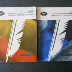 KANT - DESPRE FRUMOS SI BINE 2 volume