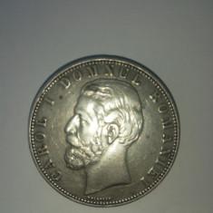 Moneda 5 lei Anul 1880