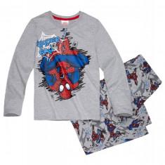 Pijamale maneca lunga Spiderman, 6 ani, 116 cm