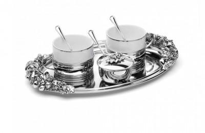 Set Argintat Cafea Larissa Cod Produs 2856 foto