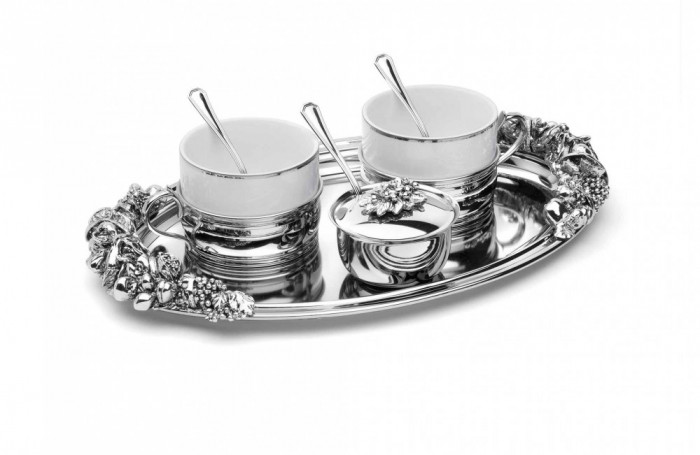 Set Argintat Cafea Larissa Cod Produs 2856