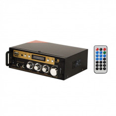 Amplificator digital IdeallStore, SN-828BT, 2x60 W, Bluetooth, intrare USB, microfon, negru