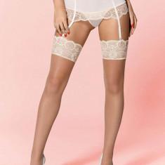 Ciorapi Sexy Cu Dantela, Alb, L/XL