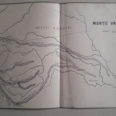 Hartă veche Munții Vrancei