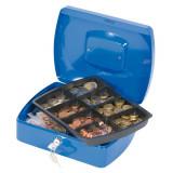 Cumpara ieftin Cutie Metalica pentru Valori, 255x85x200 mm, Intercuietoare cu 2 Chei, Culoare Albastra, Caseta pentru Bani, Cutie pentru Bani,Caseta Larga pentru Val