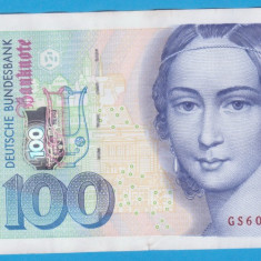 (5) BANCNOTA GERMANIA - 100 MARK 1996 (2 IANUARIE 1996), STARE BUNA