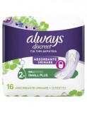 Absorbante Always Discreet Small Plus, pentru incontinenta urinara, 16 bucati