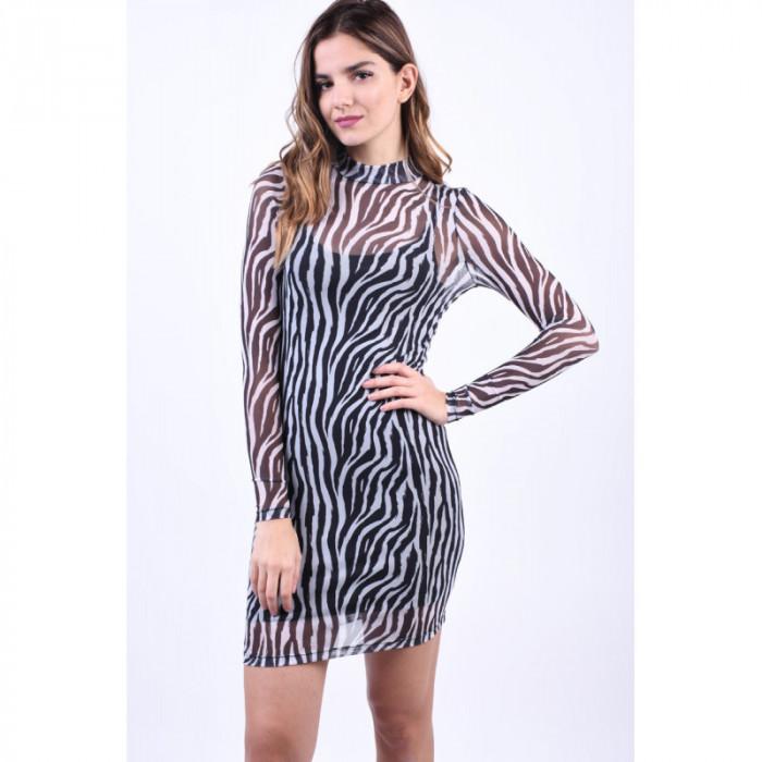 Rochie Noisy May Karla Negru Zebra