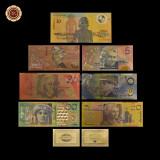 A2867 Australia 5 10 20 50 100 dollars Fantezie Aurita Aur Gold 24K