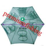 Halau  Crâsnic Varsa tip umbrela pentru raci si baboi cu 16 intrari 90 x 90 cm