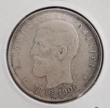 Moneda 5 lei 1906 - Argint