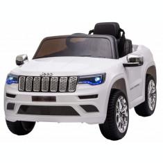 Masinuta electrica Premier Jeep Grand Cherokee, 12V, roti cauciuc EVA, scaun piele ecologica, alb