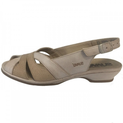 Sandale dama, din piele naturala, marca Suave, O816T-3, bej , marime: 40 foto
