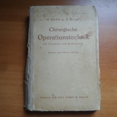 Chirurgische Operationstechnik – O. Roder, E. Berge