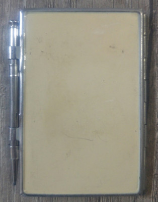 Coperta pentru carnetel/agenda si creion// perioada interbelica foto